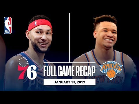 Video: Full Game Recap: 76ers vs Knicks | Ben Simmons Records First 20-20 Game