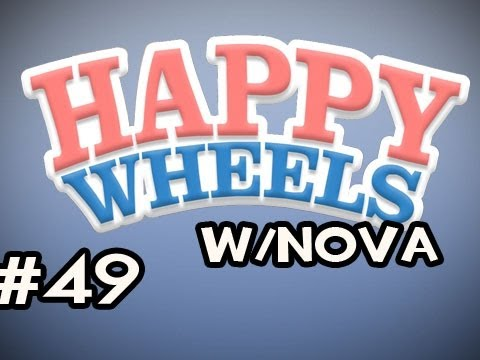 Happy Wheels w/Nova Ep.49 - Face Plant Unbreakable Glass Video