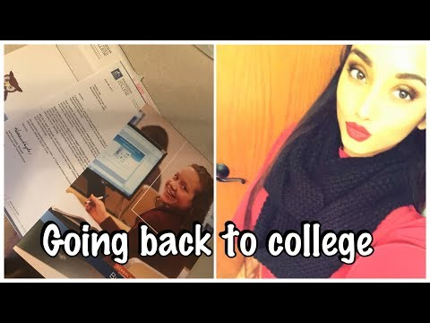 Vlog: Going Back To College | How To Start | What I Am Studying Answered It All.