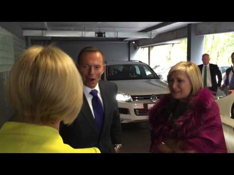 The PM arrives to support get all Australians working