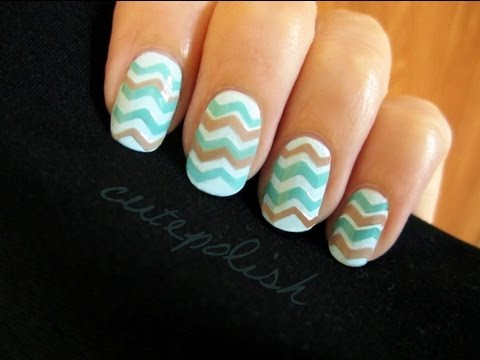 Nails - The Chevron Manicure is pretty popular these days! Most people either do it with stripers or with decals they bought from stores. Today, I am showing you how...