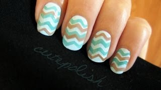 Easy Chevron Nails (no stripers needed!) - YouTube