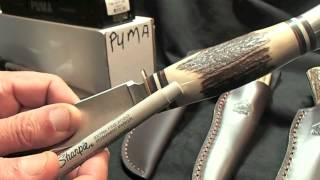 Solingen Germany  City pictures : Puma Germany Solingen Pathfinder Hunter Round Staghorn Handle Knife Review 033