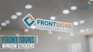 Front Signs Vinyl Lettering printing and installation