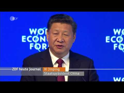 China warnt Trump vor Handelskrieg (ZDF heute-journal vom 17.1.2017)