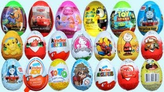 20 Surprise Eggs Kinder Surprise Disney Pixar Cars