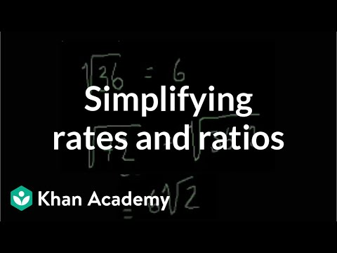 Simplifying radicals (old) | Algebra (video) | Khan Academy