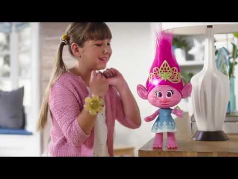 Поющая Тролль Розочка Поппи интерактивная игрушка Троллс