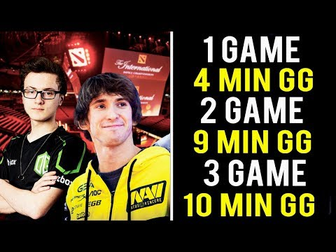 Dendi & Miracle Top 3 Fastest Games in Dota 2 History