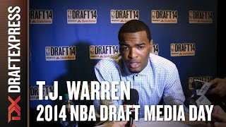 T.J. Warren 2014 NBA Draft Media Day Interview