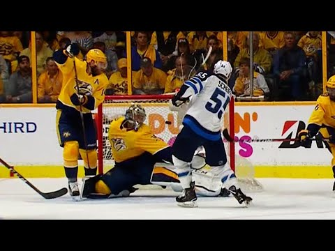 Video: Jets score two quick goals on Rinne to take lead in Game 2