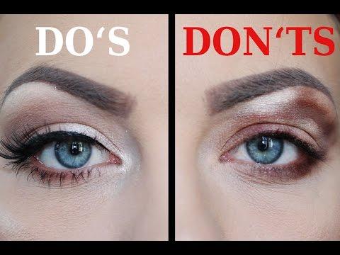 DO'S & DONT'S Eyeshadow// Lidschatten auftragen für Anfänger