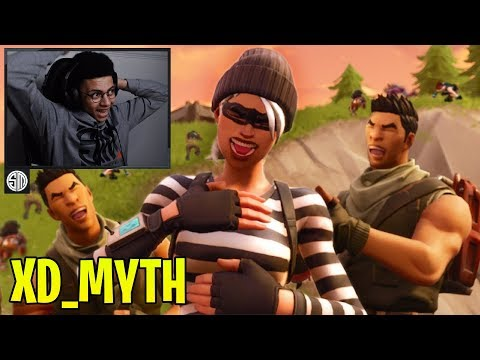 """Myth Reacts To """"XD"""" First Trickshot Clan In Fortnite! - Fortnite Moments #97"""