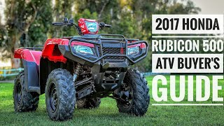 7. 2017 Honda FourTrax Rubicon 500 ATV Model Lineup Explained / Differences / Model ID Breakdown