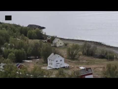 Miasteczko obsuwa się do morza – Norwegia