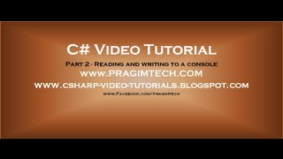 Download Lagu Part 2 - C# Tutorial - Reading and writing to a console.avi Mp3