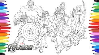 Video THE AVENGERS Coloring Pages | Coloring Painting Avengers Iron Man Captain America Thor Hulk MP3, 3GP, MP4, WEBM, AVI, FLV Juni 2018
