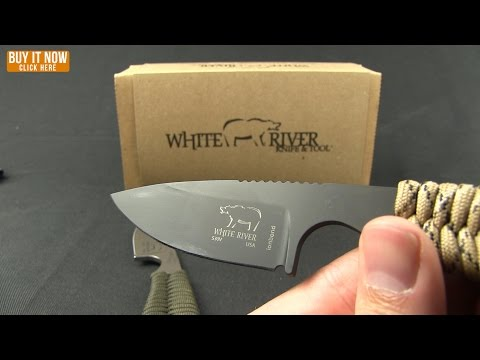 "White River Knives Backpacker Knife Green Camo Paracord (3"" Stonewash)"