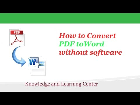 How to convert pdf to word without any software