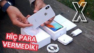 iPhone X Kutu Açılımı - Hiç Para Vermeden Aldık !