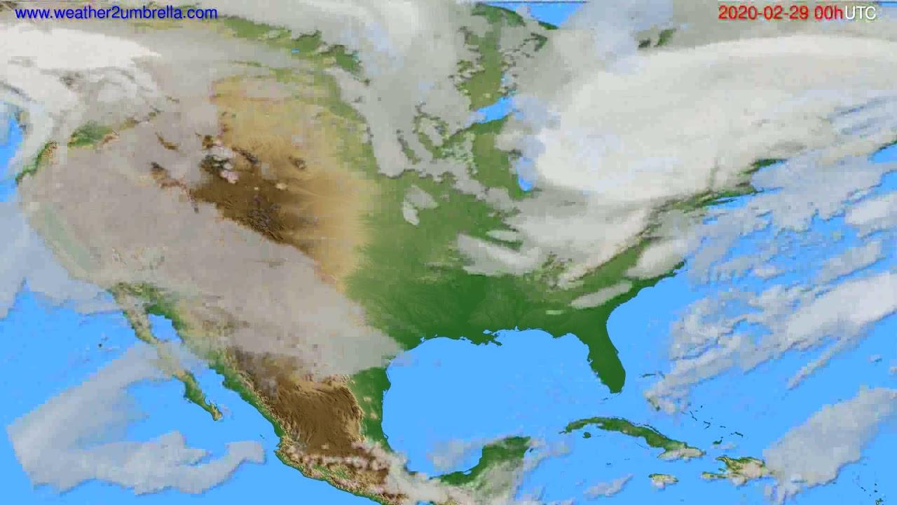 Cloud forecast USA & Canada // modelrun: 00h UTC 2020-02-28