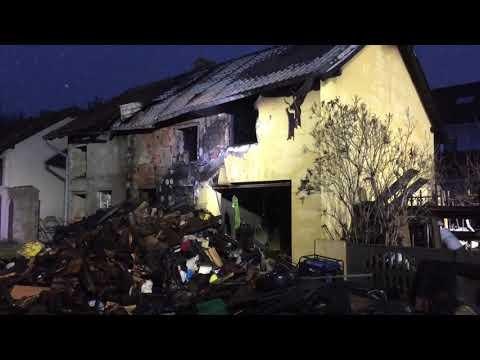 Wideo1: Spalił się budynek gospodarczy w Kąkolewie