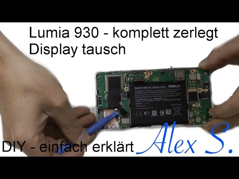 Nokia Lumia 930 Repair guide, Reparatur Anleitung, Disassembly & Assembly Deutsch, Touch, display (видео)