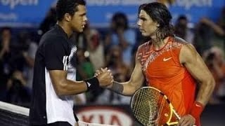 Jo-Wilfried Tsonga VS Rafael Nadal Highlight 2008 AO SF.