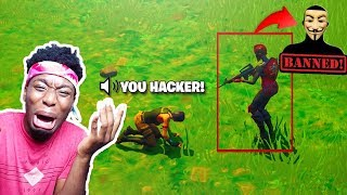 I 1v1'd A FORTNITE HACKER AND THIS HAPPENED... EXPOSING FortniteHackGod + 800k Giveaway