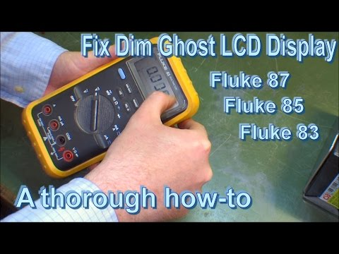 Fixing Fluke 85 Dim Ghost LCD Display (Fluke 87 / 83) - 144