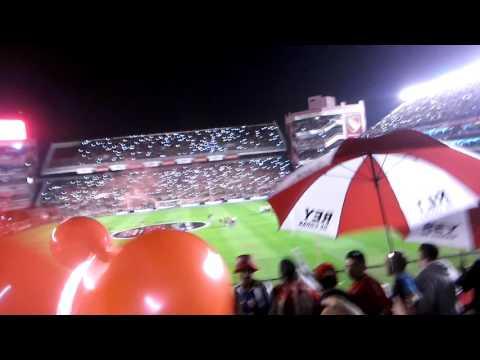 Gran recibimiento de independiente 2-0 racing - La Barra del Rojo - Independiente