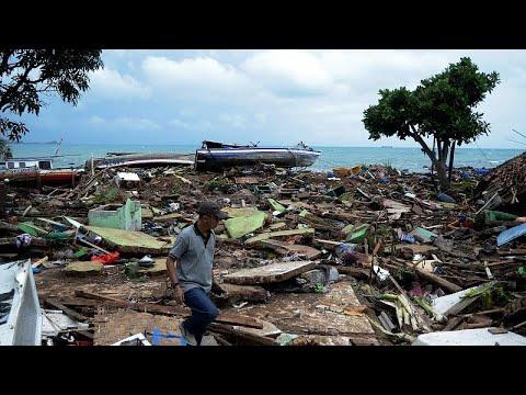 Ινδονησία: Εικόνες βιβλικής καταστροφής από το τσουνάμι…
