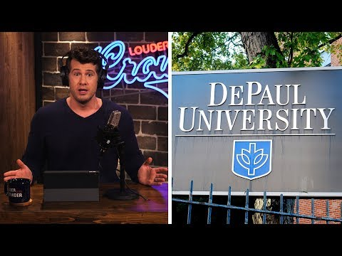 BANNED?! Crowder Not Welcome at DePaul… | Louder With Crowder