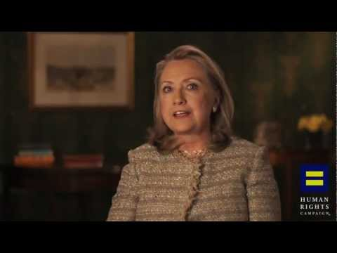 Video: Hillary Clinton Publicly Supports Gay Marriage With The HRC