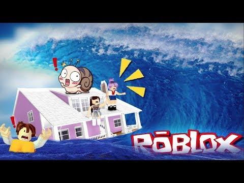 Roblox น้ำมาแล้ว  หนีเร็วพวกเรา..!!?? [N.N.B CLUB พี่นุ้ย]