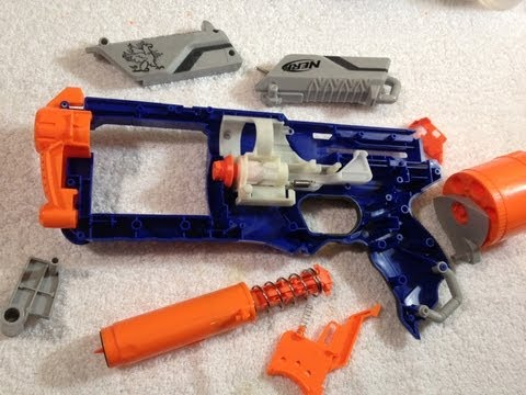 nerf mods - This is our in-depth Mod Guide for the NERF Elite Strongarm. In this video we cover spring replacment, barrel poast removal, rear loading, lock removal, and ...