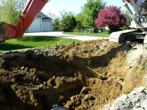 bulldozer hits underground cable
