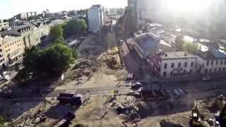 Fabryka Norblin - przestawianie komina