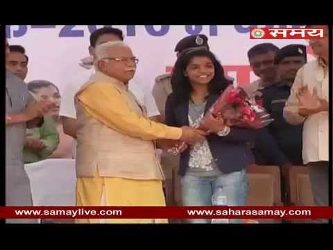 CM Manohar Lal Khatter honoured to Sakshi Malik
