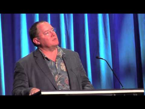 Lasseter - Visit http://www.InsideTheMagic.net for more from the 2013 D23 Expo! John Lasseter accepted the 2013 Disney Legends award for the late Steve Jobs, a friend o...