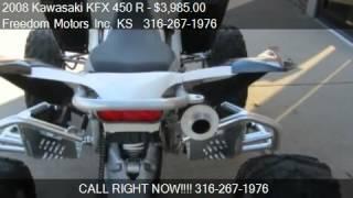 7. 2008 Kawasaki KFX 450 R - - for sale in Wichita, KS 67214