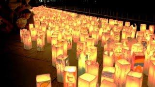 広島8月6日、灯籠流し