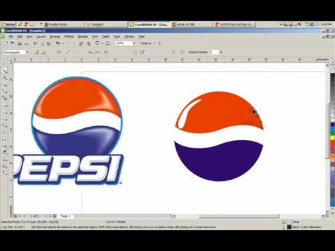 Pepsi Logo In CorelDRAW X4