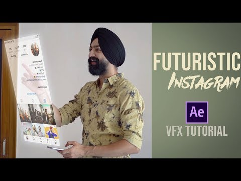 Futuristic Instagram | Hologram VFX Tutorial In Hindi | Adobe After Effects