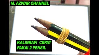 Download Video KEREN..! CARA MEMBUAT KALIGRAFI 2 PENSIL MP3 3GP MP4