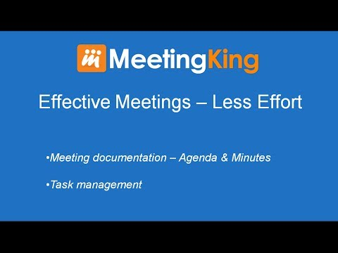 Video Quick Overview MeetingKing