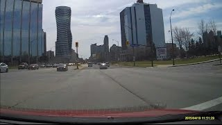 Mississauga (ON) Canada  city photos gallery : Driving through Downtown Mississauga a Suburb of Toronto Canada