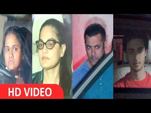 Salman Khan | Alvira Khan | Arpita Khan Spotted At Light Box