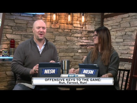 Video: NESN Pregame Chat with Matt Chatham and Courtney Cox