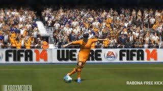 FIFA 14 Free Kick Tutorial - Rabona Free Kick (XBOX 360, PS3 & PC)